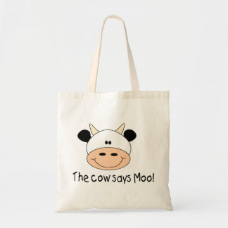The Cow Says Moo Budget Tote Bag