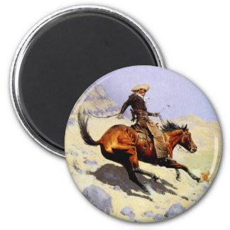 The Cowboy by Remington, Vintage American West Fridge Magnets