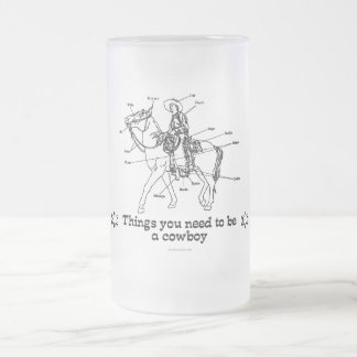 The Cowboy Frosted Glass Mug
