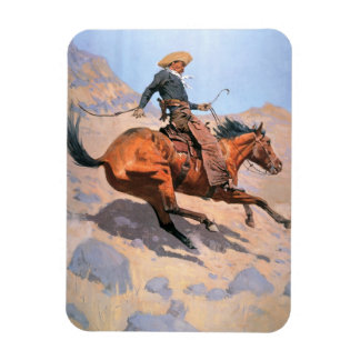 The Cowboy (oil on canvas) Magnet