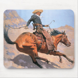 The Cowboy (oil on canvas) Mouse Mat