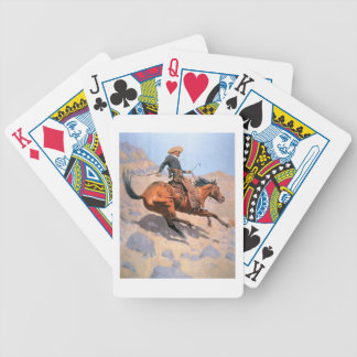 The Cowboy (oil on canvas) Poker Deck