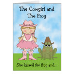 The Cowgirl and the Frog Birthday Card - Blonde