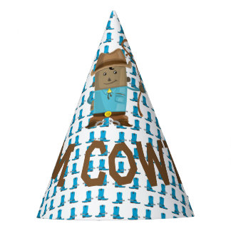The Cowgirl or Cowboy Gender Reveal Party Hat