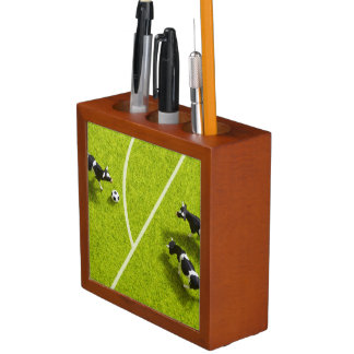 The cows playing soccer desk organiser