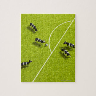 The cows playing soccer jigsaw puzzle