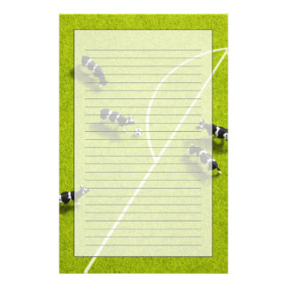 The cows playing soccer personalized stationery