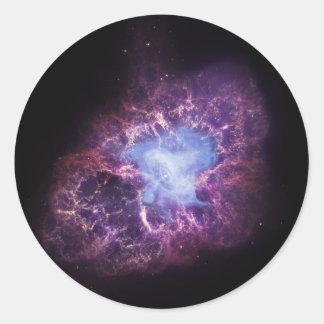 The Crab Nebula Classic Round Sticker