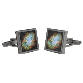The Crab Nebula Gunmetal Finish Cuff Links