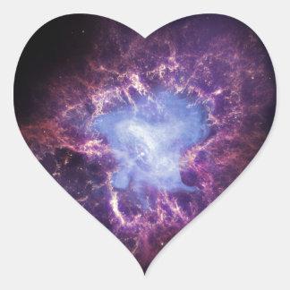 The Crab Nebula Heart Sticker