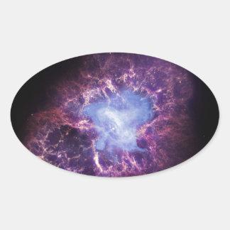 The Crab Nebula Oval Sticker