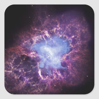 The Crab Nebula Square Sticker