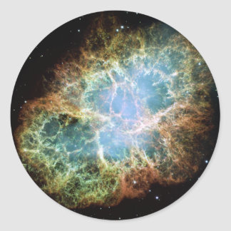 The Crab Nebula Round Sticker