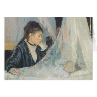 The Cradle, Berthe Morisot, Vintage Impressionism Greeting Card