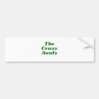The Crazy Aunty Bumper Sticker