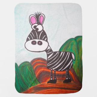 The Crazy zebra baby blanket