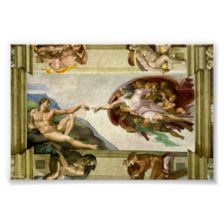 The Creation of Adam by Michelangelo Poster