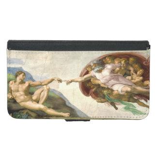 The Creation of Adam by Michelangelo Samsung Galaxy S5 Wallet Case