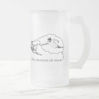 The Creation of Adam god Coffee Mugs