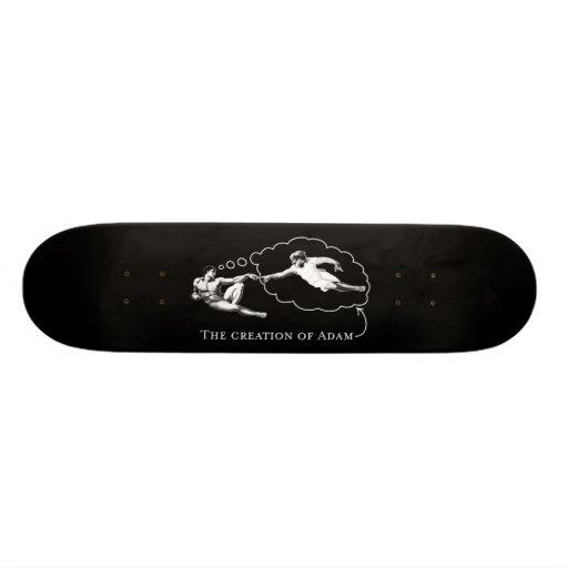 The Creation of Adam (god) - Da Vinci 21.6 Cm Old School Skateboard Deck