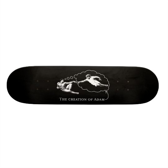 The Creation of Adam (god) - Da Vinci 21.6 Cm Old School Skateboard Deck