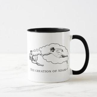 The Creation of Adam (god) Mug