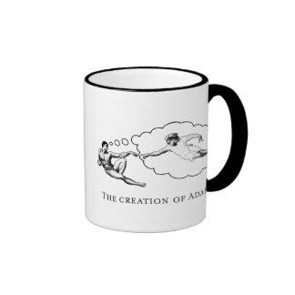 The Creation of Adam (god) Ringer Mug