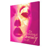 """""""The creation of beauty is art"""" pink face canvas Gallery Wrap Canvas"""