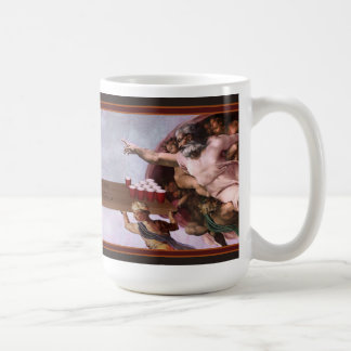 The Creation of Beer Pong Basic White Mug
