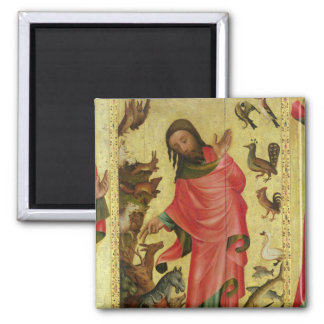 The Creation of the Animals Square Magnet