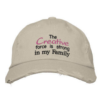 The Creative force is strong in my Family Embroidered Hats