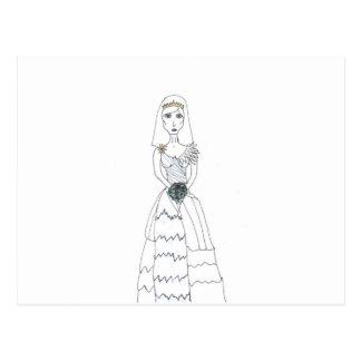 The Creepy Bride Postcard
