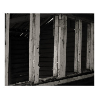 the creepy wooden hut poster