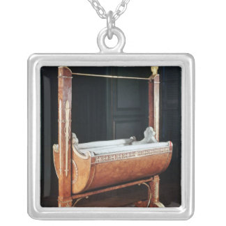 The crib of the King of Rome  from Saint-Cloud Silver Plated Necklace