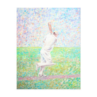 The Cricketer Stretched Canvas Print