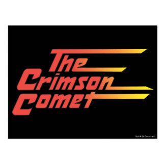 The Crimson Comet Logo Postcard
