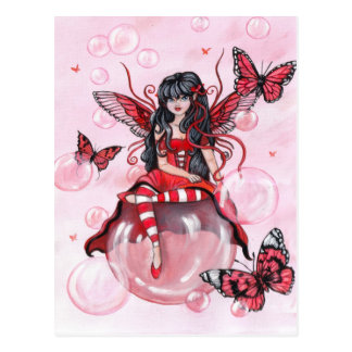 """The Crimson Fairy"" postcard"