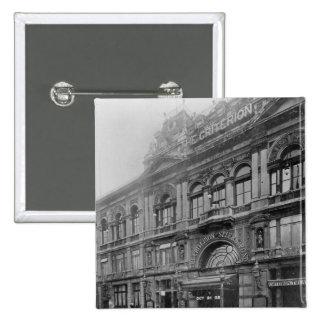 The Criterion Restaurant and Theatre, 1902 15 Cm Square Badge