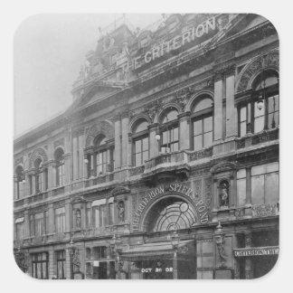 The Criterion Restaurant and Theatre, 1902 Square Sticker