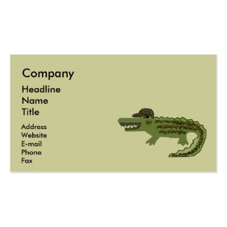 The Crocodile Walk Pack Of Standard Business Cards