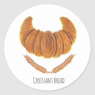 The Croissant Bread Classic Round Sticker