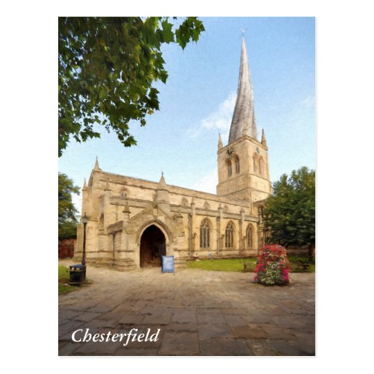 The Crooked Spire of Chesterfield Postcard