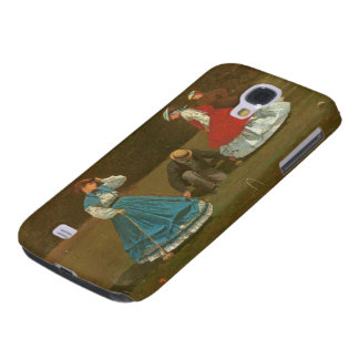 The croquet game, 1866 (oil on canvas) galaxy s4 case