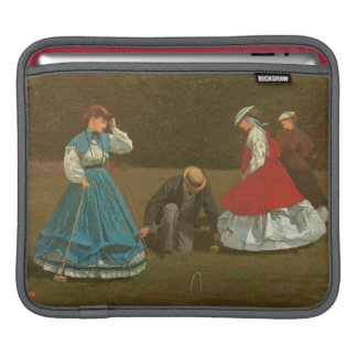 The croquet game, 1866 (oil on canvas) iPad sleeve