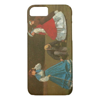 The croquet game, 1866 (oil on canvas) iPhone 8/7 case