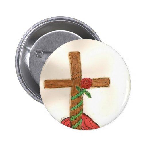 The Cross... 6 Cm Round Badge