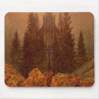 The Cross in the Mountains, 1812 (oil on canvas) Mouse Mat