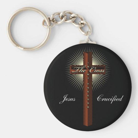 The cross is my freedom keychain