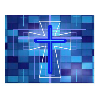 The Cross on ceramic tiles. Postcards