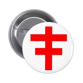 The Cross Pattee of The Scottish Knights Templar 6 Cm Round Badge